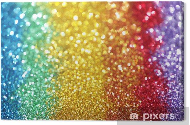 Leinwandbild Regenbogen von Lichtern - Vorlagen