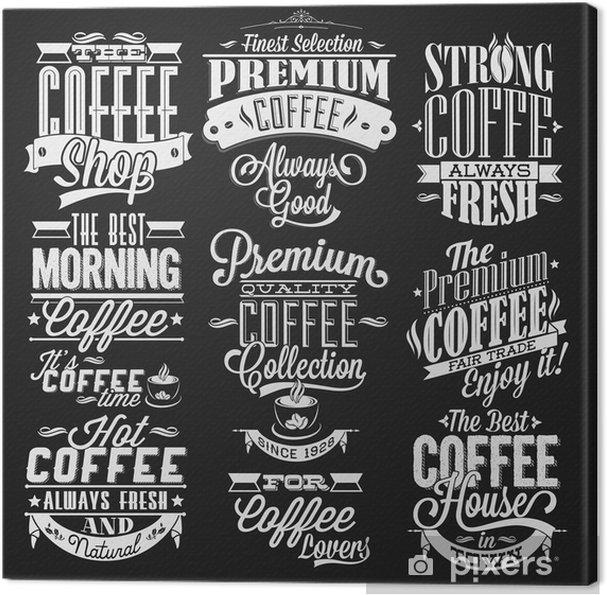 Verwonderlijk Leinwandbild Reihe von Vintage-Retro Coffee Labels Auf Tafel TQ-26