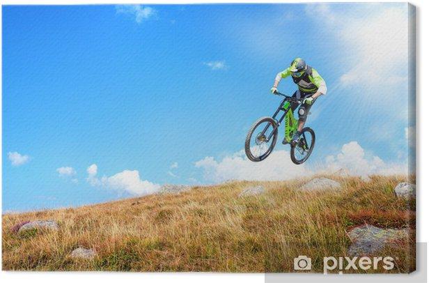 Leinwandbild Reiter am Himmel - Radsport