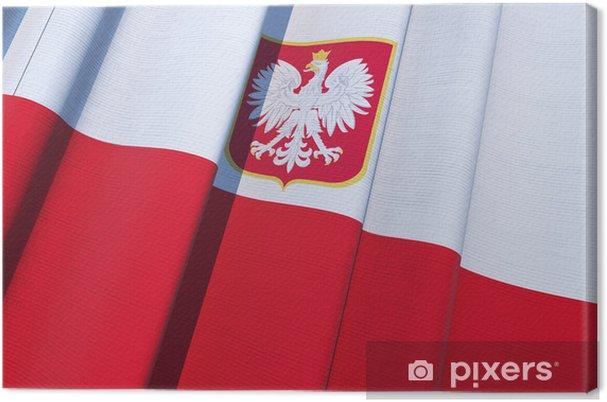 Leinwandbild Republik Polen Flagge - Themen