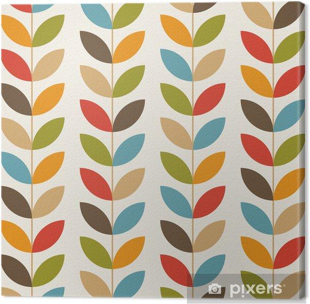 Leinwandbild Retro Blumenmuster nahtlose Hintergrund - Feste