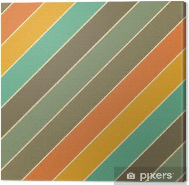 Retro Farben.Leinwandbild Retro Farben Diagonale Linien Hintergrund Zusammenfassung Jahrgang Nahtlose Muster