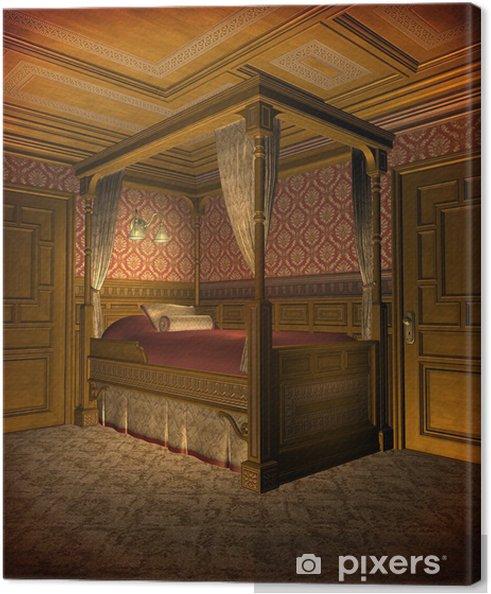 Leinwandbild Retro Schlafzimmer 1