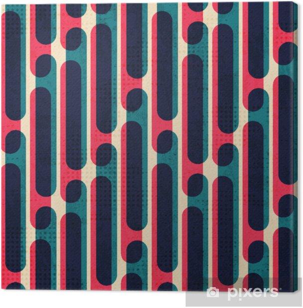 Leinwandbild Retro Streifen. nahtlose Muster. - Grafische Elemente