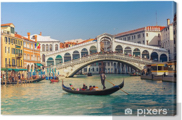 Leinwandbild Rialto-Brücke in Venedig. - Themen