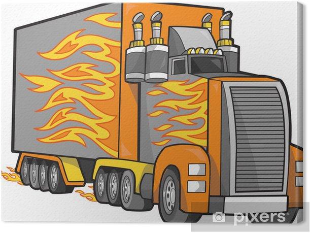 Leinwandbild Riesen-Truck Vector Illustration - Straßenverkehr