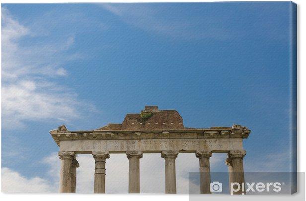 Leinwandbild Roman Spalte, Rom, Italien - Europäische Städte