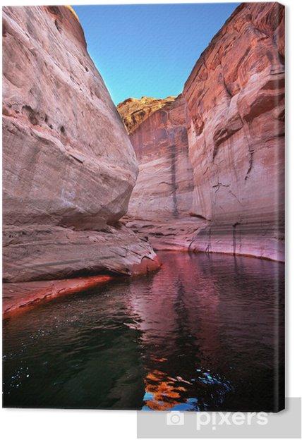 Leinwandbild Rosa Antelope Slot Canyon Reflection Lake Powell Arizona - Amerika