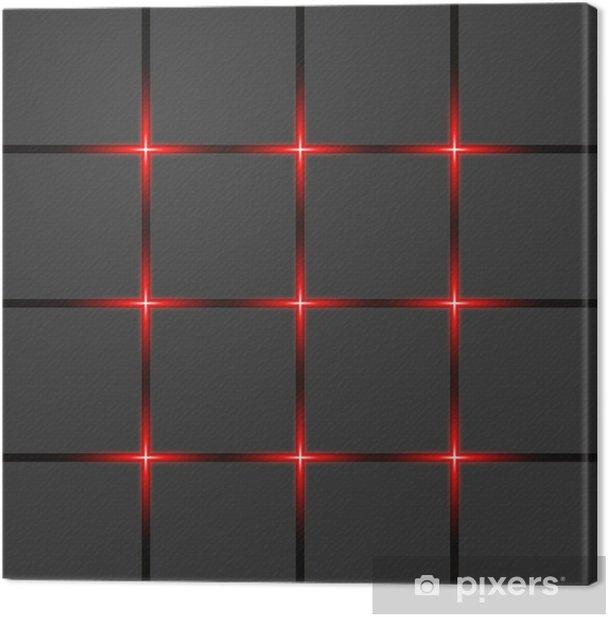 Leinwandbild Rot Neonlichter und abstrakte Vektor-Banner - Hintergründe