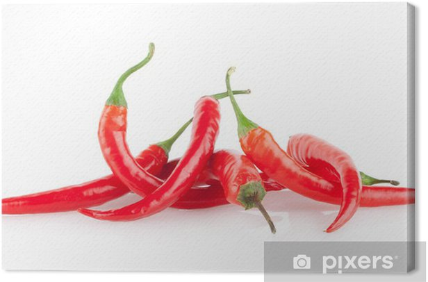 Leinwandbild Rote Chilischoten - Gemüse