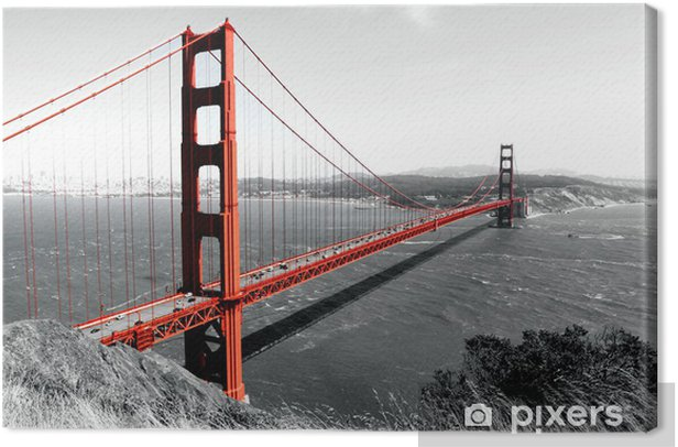 Leinwandbild Rote Golden Gate Bridge - iStaging