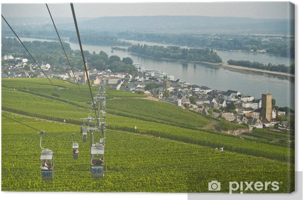 Leinwandbild Rüdesheimer Seilbahn - Europa