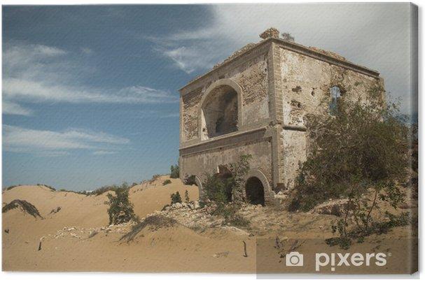 Leinwandbild Ruine Eines alten Forts, Diabat, Marokko - Denkmäler