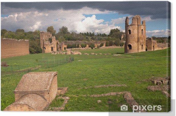 Leinwandbild Ruinen aus dem Circus des Maxentius in Rom - Italien - Themen