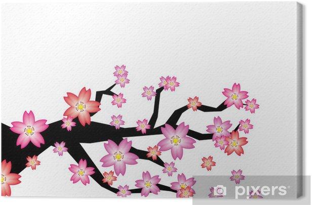 Leinwandbild Sakura-Zweig - Vorlagen