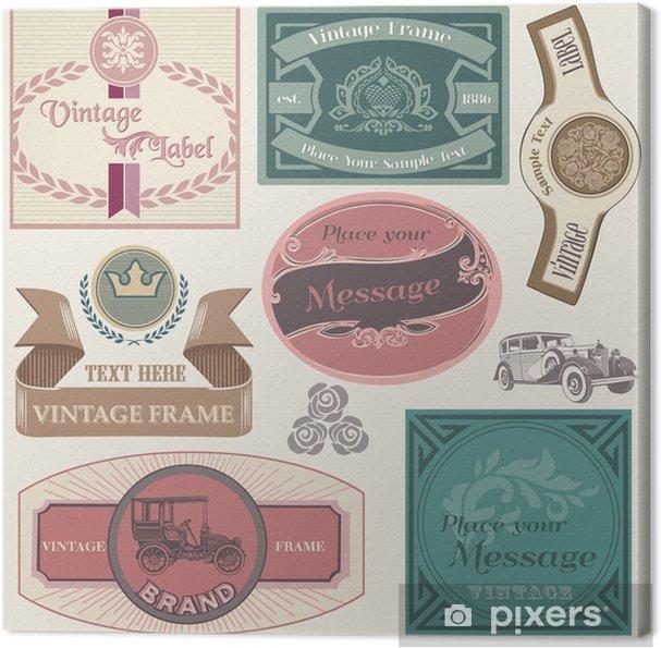 Leinwandbild Sammlung von Vintage Labels im Vektor - Zeichen und Symbole