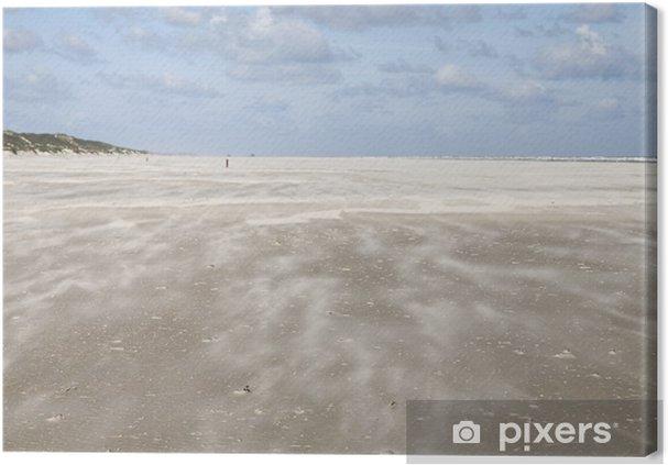 Leinwandbild Sandsturm - Wasser