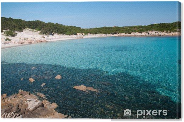 Leinwandbild Sardinien, Italien: Cala Andreani Strand auf Insel Caprera - Wasser
