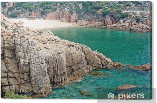 Leinwandbild Sardinien Strand - li Cossi - Europa