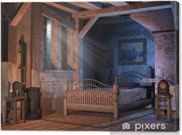 Leinwandbild Schlafzimmer in einem alten Haus