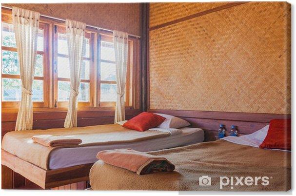 Leinwandbild Schlafzimmer in Hütte Resorthotel • Pixers® - Wir leben ...