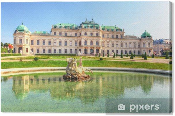 Leinwandbild Schloss Belvedere in Wien, Österreich - Europa
