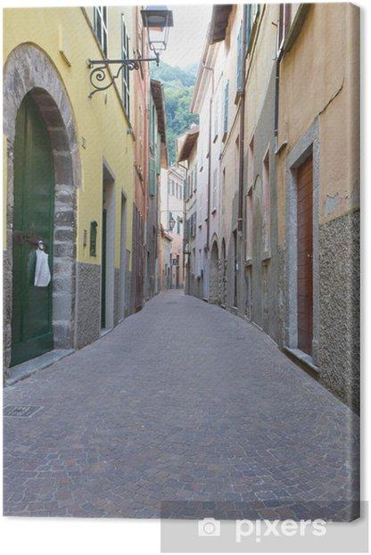 Leinwandbild Schmale Gasse in Torno, Italien - Themen