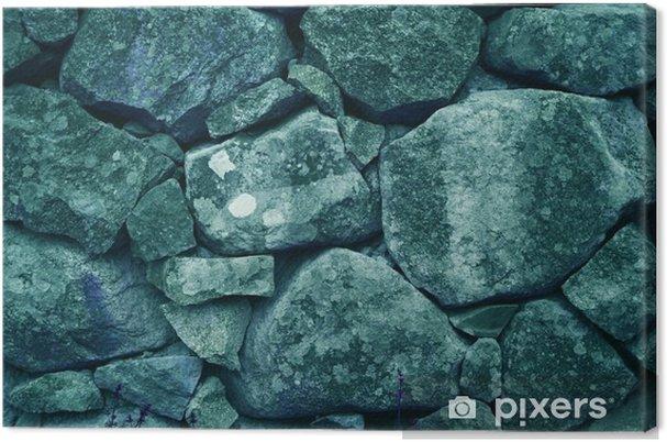 Leinwandbild Schöne Blaue Gestapelt Großen Felsen / Steine (Mineral  Hintergrund, Hintergrund)