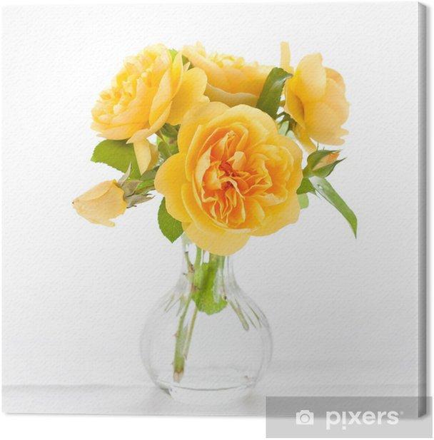Leinwandbild Schöne gelbe Rosen - Haus und Garten