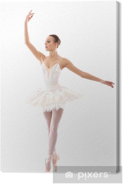 Leinwandbild Schöne und wunderschöne Ballerina in ballete stellen - Ballett