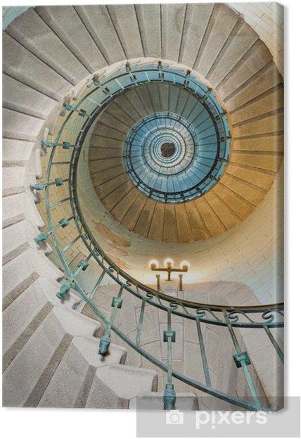 Leinwandbild Schönen Leuchtturm Treppe -