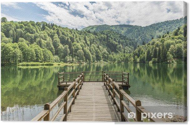 Leinwandbild Schöner See und Pier - Themen