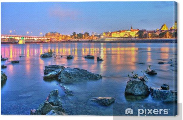 Leinwandbild Schöner Sonnenuntergang über Warsaw.HDR-high dynamic range - Themen