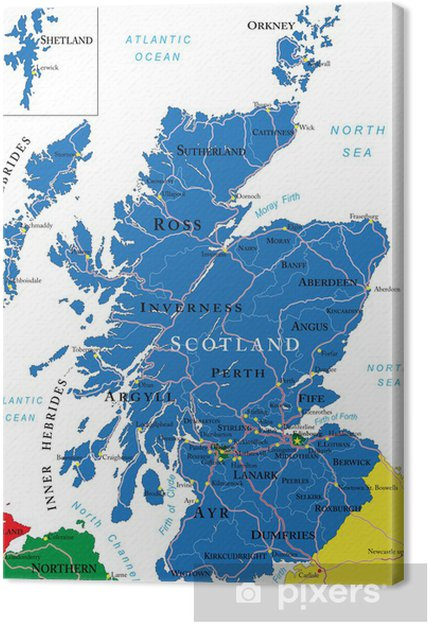 schottland karte Leinwandbild Schottland Karte • Pixers®   Wir leben, um zu verändern