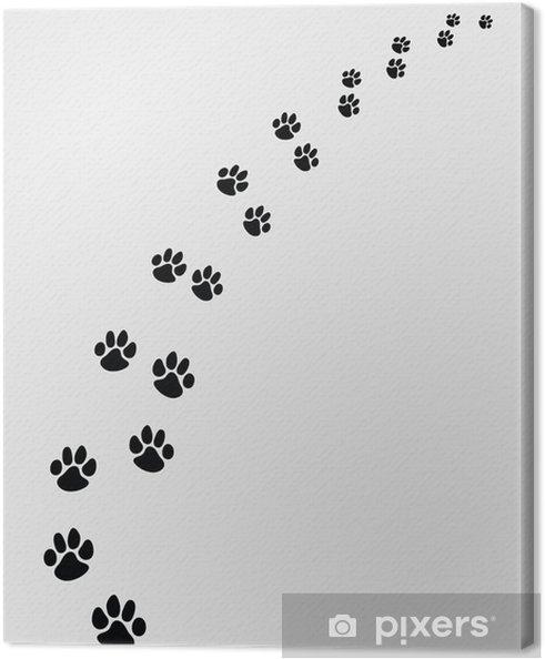 Leinwandbild Schwarz Spuren von Hunden, rechts-Vektor-Illustration - Stile