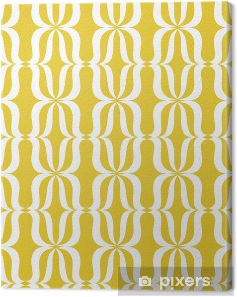 Leinwandbild Seamless vintage pattern - Grafische Elemente