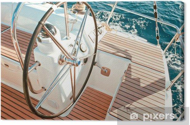 Leinwandbild Segelboot Cockpit - Boote