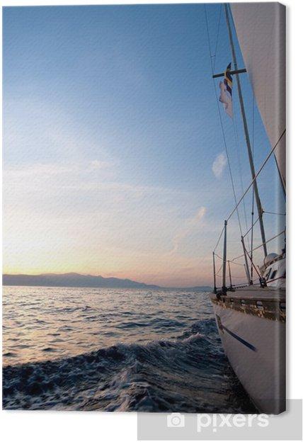 Leinwandbild Segelboot im Meer - Boote
