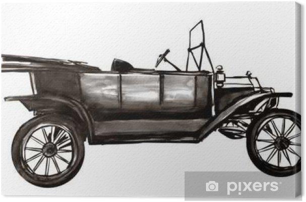 Leinwandbild Sehr Altes Auto