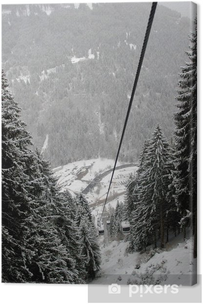 Leinwandbild Seilbahn in Pedrazzo, Dolomiten, Italien - Europa