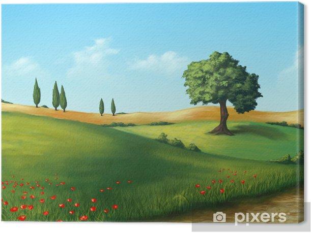 Leinwandbild Serene Landschaft - Landwirtschaft