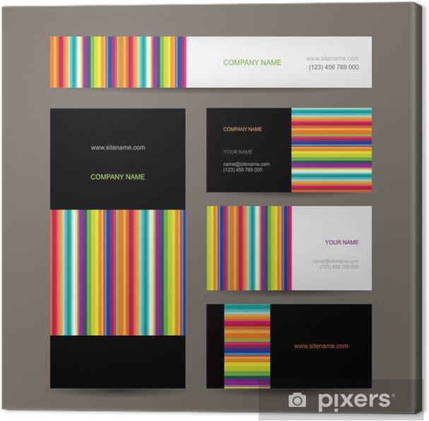 Leinwandbild Set Von Abstrakten Kreative Visitenkarten Design