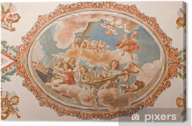 Leinwandbild Sevilla - Engel mit Musikinstrumenten barocken Fresken - Europa
