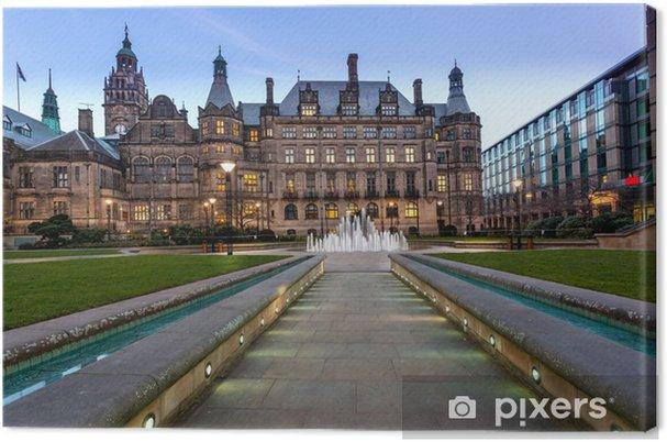 Leinwandbild Sheffield Town Hall Pfad - Europa