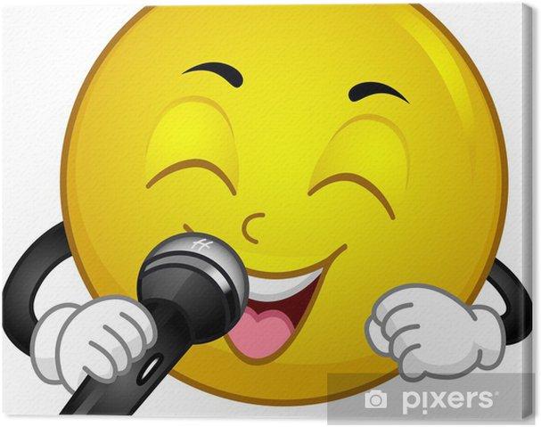 Leinwandbild Singing Smiley - Zeichen und Symbole