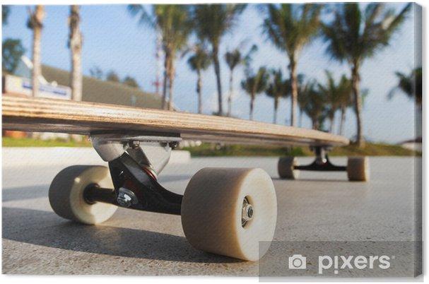 0945076fd07510 Leinwandbild Skateboard auf der Promenade • Pixers® - Wir leben