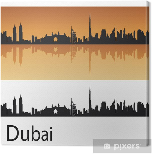 Leinwandbild Skyline von Dubai - Naher Osten