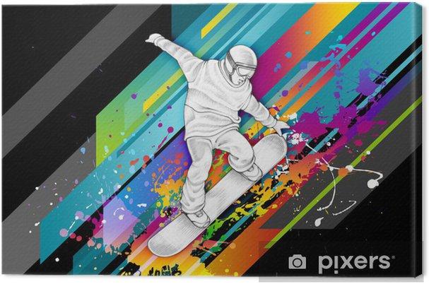 Leinwandbild Snowboarder -