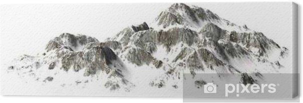 Leinwandbild __Snowy Berge - Berggipfel - auf weißem Hintergrund getrennt - Landschaften