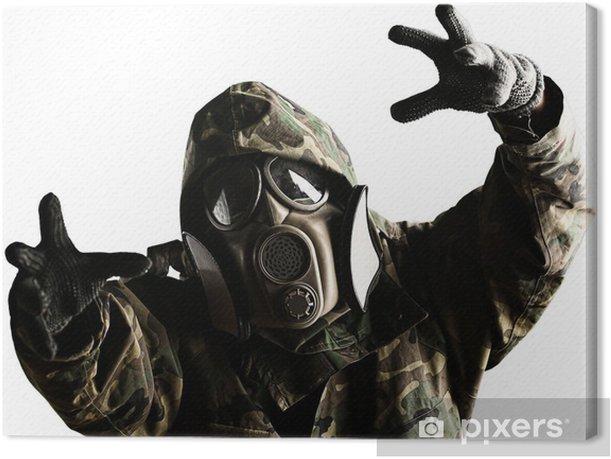 Leinwandbild Soldat mit Maske - Themen